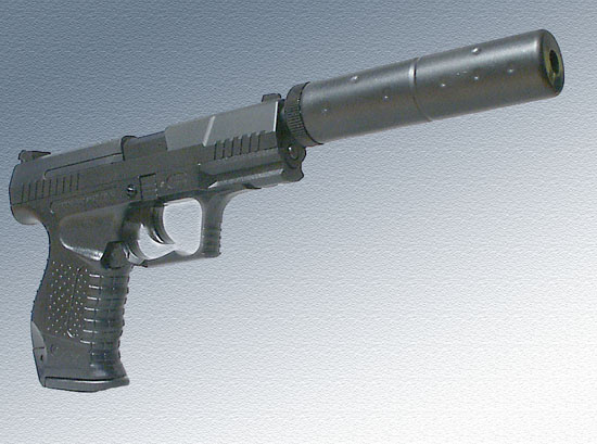 t82800 the muffler prevents to shoot from the gun the design of