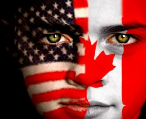 american canadian face