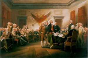 The Signing of the Declaration of Independence by Jonathan Trumbull