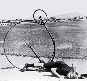 penny-farthing crash