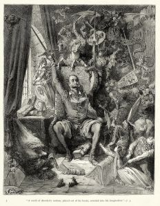A world of disorderly notions, picked out of his books, crowded into his imagination by Gustave Dore (1863)