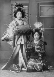 two geishas