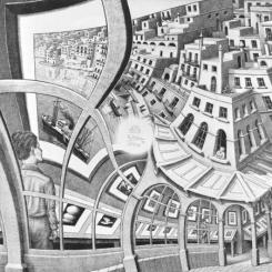 Print Gallery by M.C. Escher (1956)