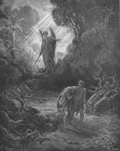 Adam and Eve are Driven Out of Eden by Gustave Dore (1866)