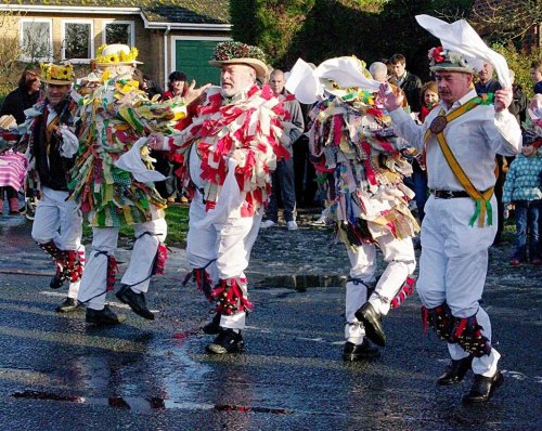 Morris dancers in Bottesford, Leicestershire (Boxing Day 2009)