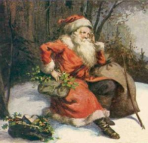 Saint Nicholas with holly