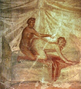 Pompeii brothel fresco
