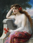 A Woodland Maiden by Emile Vernon (1901)