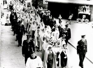 police herding Maggies, 1960