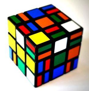 scrambled Rubik's cube