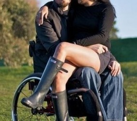 wheelchair guy with chick