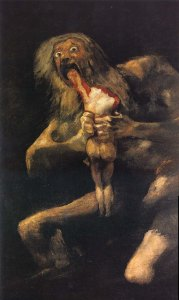 Saturn Devouring His Son by Francisco Goya (c 1820)