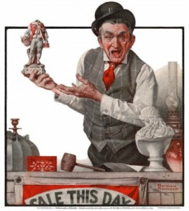 The Auctioneer by Norman Rockwell (1922)