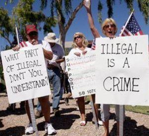 Anti-immigrant protesters