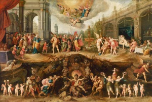 Man Choosing Between Virtue and Vice by Frans Francken the Younger (c. 1633)