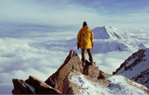 man on mountaintop