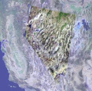 Nevada enhanced satellite image