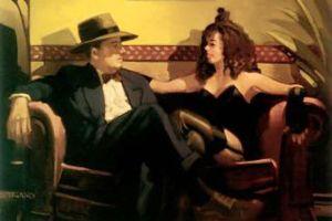 Jack Vettriano painting