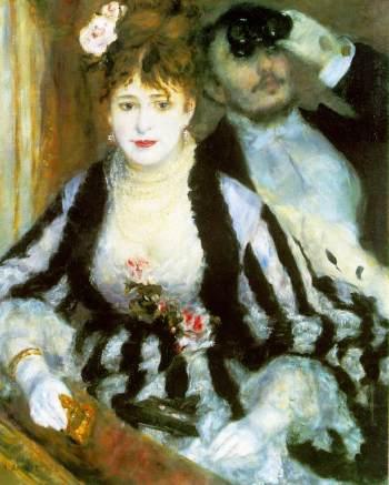 La Loge by Pierre-Auguste Renoir (1874)