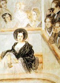 Marie Duplessis at the Theatre by Camille Roqueplan
