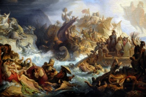 The Battle of Salamis by Wilhelm von Kaulbach (1858)