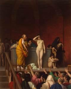 Slave Market in Rome by Jean-Léon Gérôme (1884)