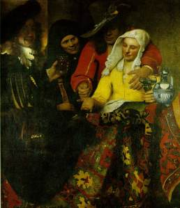 The Procuress by Johannes Vermeer (1656)