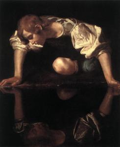 Narcissus by Carvaggio (c 1595)