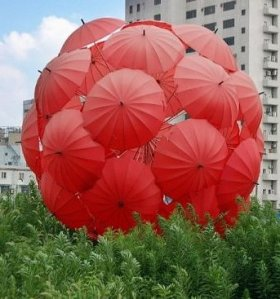 red umbrella ball