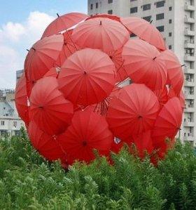 red umbrella ball