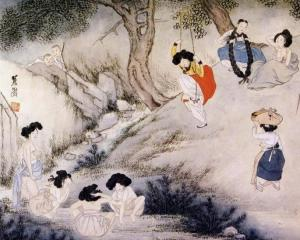 Scenery on Dano Day by Hyewon (c 1800)
