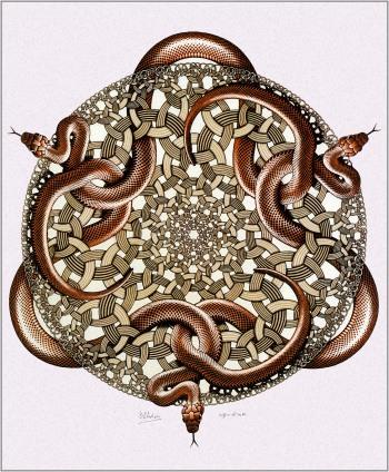Snakes by M.C. Escher (1969)