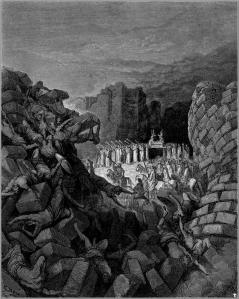 The Walls of Jericho Fallen Down by Gustave Dore (1866)