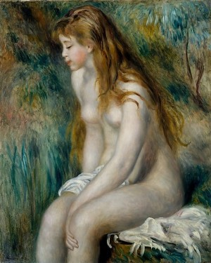 Young Girl Bathing by Renoir (1892)