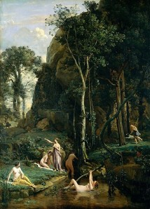 Diana and Actaeon by Camille Corot (1836)