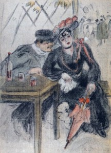 Prostitute and Her Client by Georges Bottini (1904)