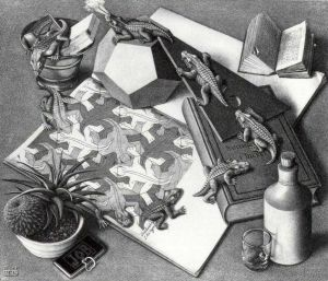 Reptiles by MC Escher (1943)