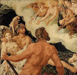 Venus, Mars and Vulcan by Maerten Van Heemskerck (c. 1540)
