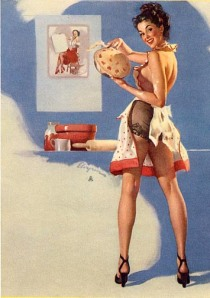 What's Cooking by Gil Elvgren (1949)