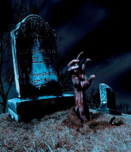 Zombie Rising from the Grave by Diane Diederich