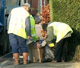 binmen snooping in rubbish