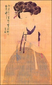 Hwang Jini (portrait from Korean textbook, c. 1910)