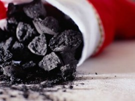 stocking full of coal