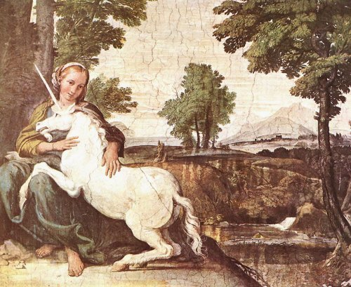 A Virgin with a Unicorn by Domenichino (1604)