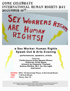 NYU Human Rights Day poster