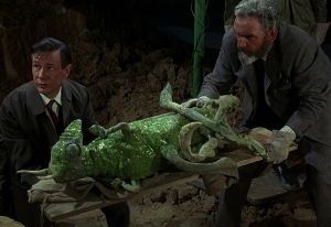 Roney & Quatermass with mummified Martian