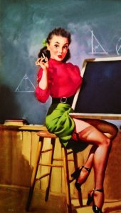 variant of Is This the Right Angle Professor by Gil Elvgren (1948)