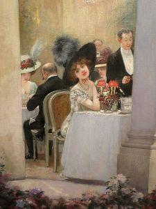 Liane de Pougy in a detail of Une soirée au Pré-Catelan by Henri Gervex (1909)