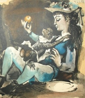 Woman with Monkey