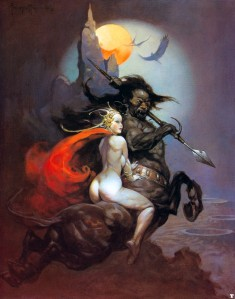 The Moon Maid by Frank Frazetta (1974)